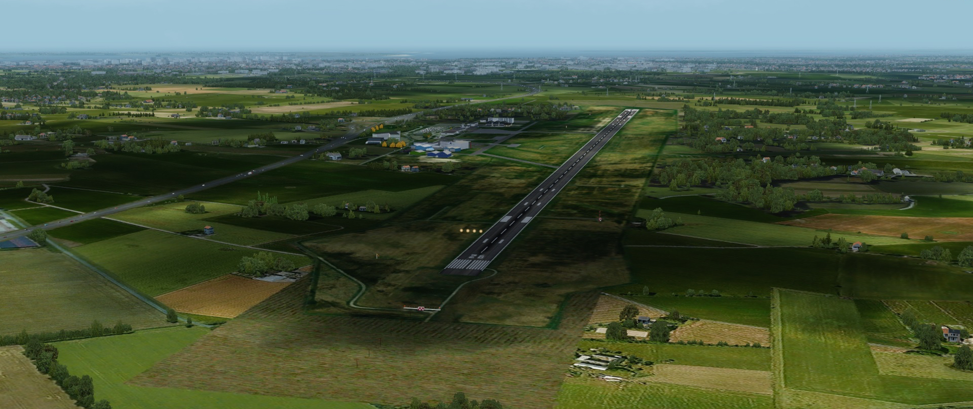 Esbjerg Airport Scenery EKEB Overview