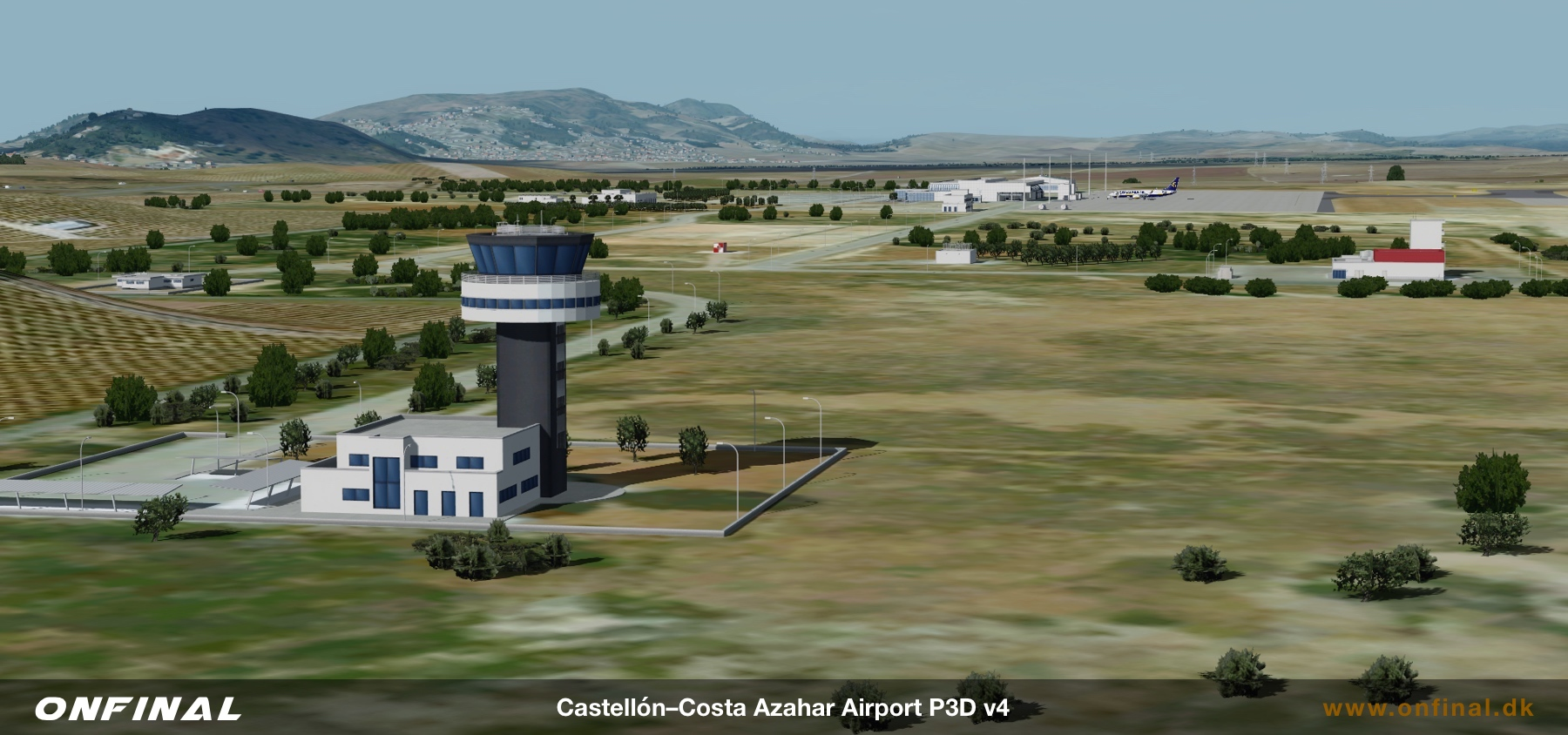 Castellon Airport LECH Tower Overview Scenery Prepar3d P3D FSX